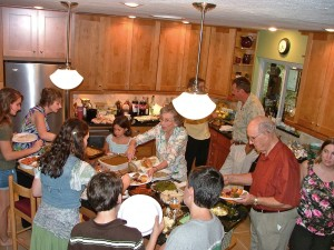 thanksgiving gathering  photo by Derek Maul